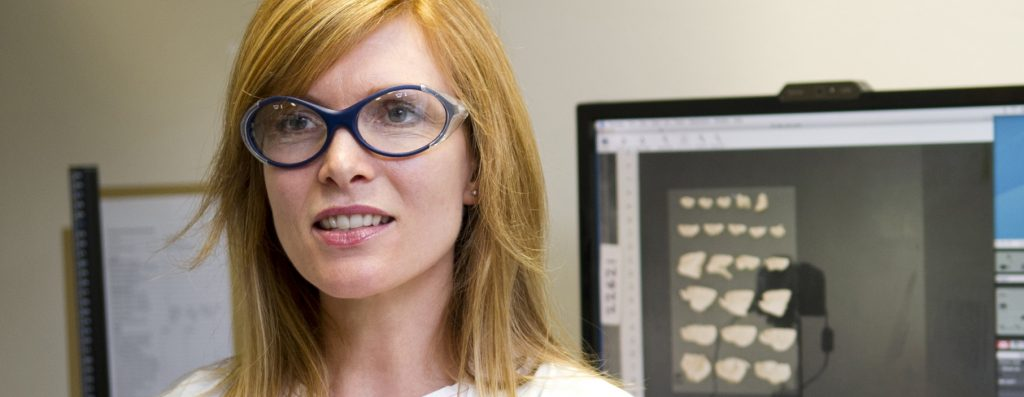Dr Claire Shepherd in Brain Bank lab