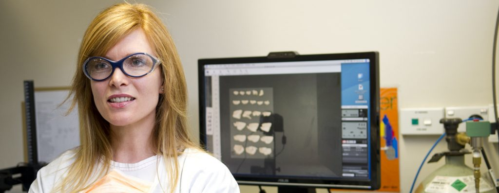 Dr Claire Shepherd in the Sydney Brain Bank labs