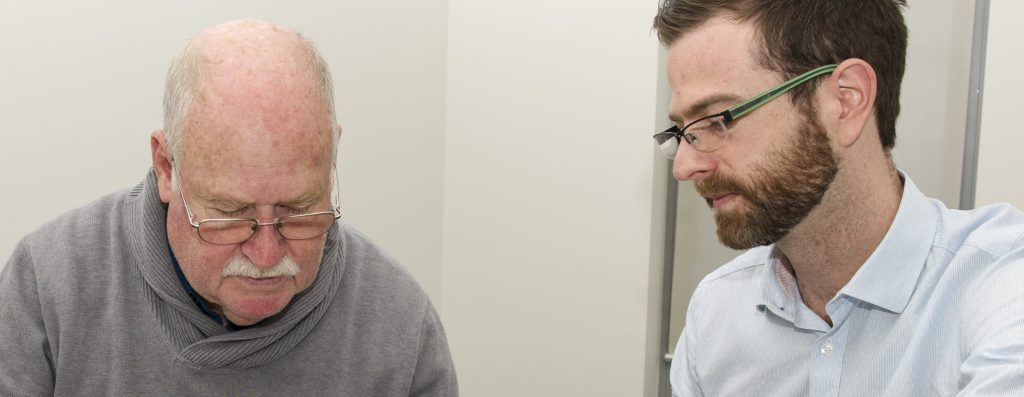 David Foxe with FTD study participant