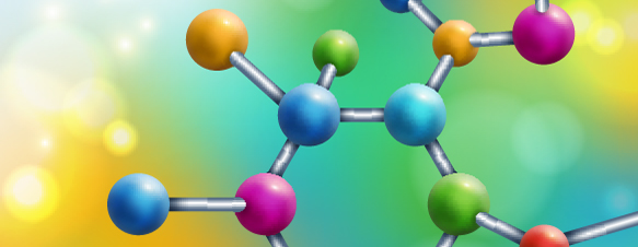 Colourful molecular structure