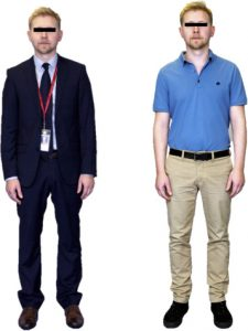 Clinician's formal and casual attire